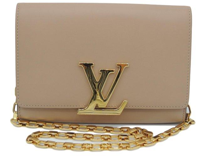 fc909e22280b Louis Vuitton louise Handbags Leather Beige ref.74703 - Joli Closet