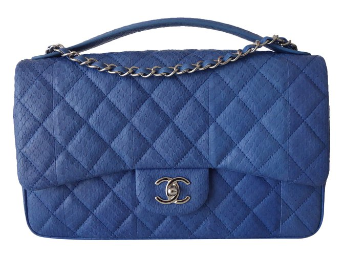 7d2eab63248f Chanel Bag Handbags Exotic leather Blue ref.74766 - Joli Closet