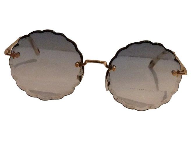 22784f6fcfc74 Lunettes Chloé lunettes de soleil Rosie Autre Bleu ref.74780 - Joli ...