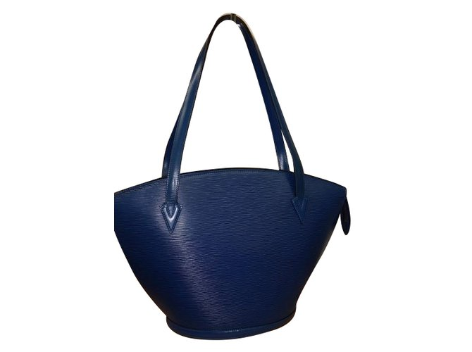 c9a22c7d4877 Louis Vuitton Saint Jacques Handbags Leather Blue ref.74871 - Joli ...