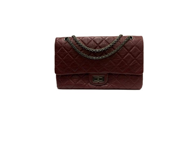 d7740124135d Chanel 2.55 Handbags Leather Dark red ref.74988 - Joli Closet