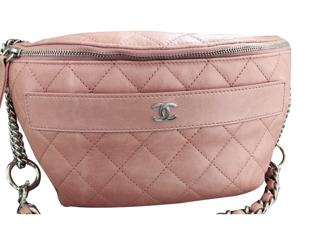 21c35c81a9e842 Chanel Belt bag / shoulder bag / cross body bag Handbags Leather Pink  ref.75007