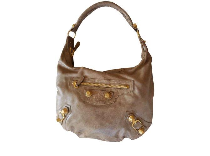 4de4e4df942a Balenciaga Classic day hobo bag Handbags Leather Light brown ref.75017