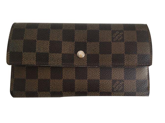 Portefeuilles Louis Vuitton International Cuir,Toile Marron ref.75037 78305214c23
