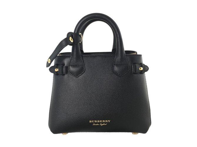 Burberry Baby Banner Handbags Leather Black Ref 75108 Joli Closet