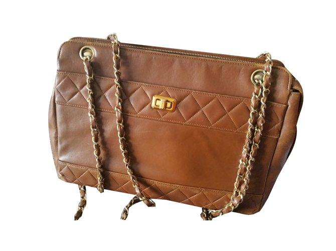 9ba88de7dd8ff6 Chanel Bag Handbags Leather Caramel ref.75248 - Joli Closet