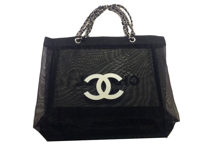e061cc1fc0ed Chanel Vip gift bag tote VIP gifts Synthetic Black ref.75265 - Joli ...