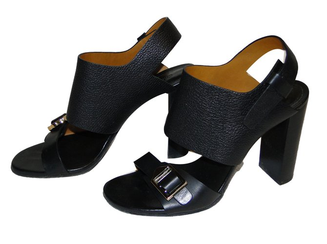 Chloé sandals Sandals Leather Black ref.75327