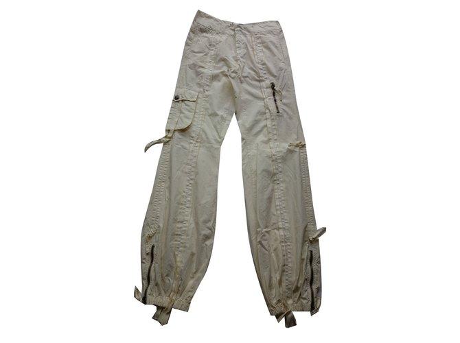 Pantalons Ermanno Scervino Pantalon Coton Beige ref.75413