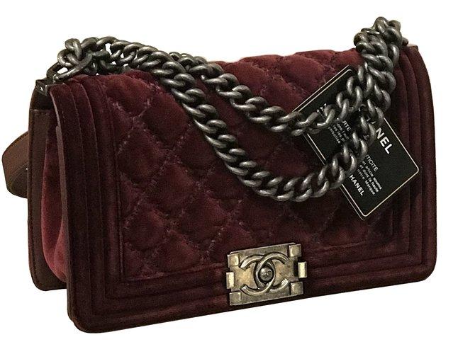c375138afba178 Chanel Chanel Boy Medium with card & box Handbags Velvet Other ref.75450