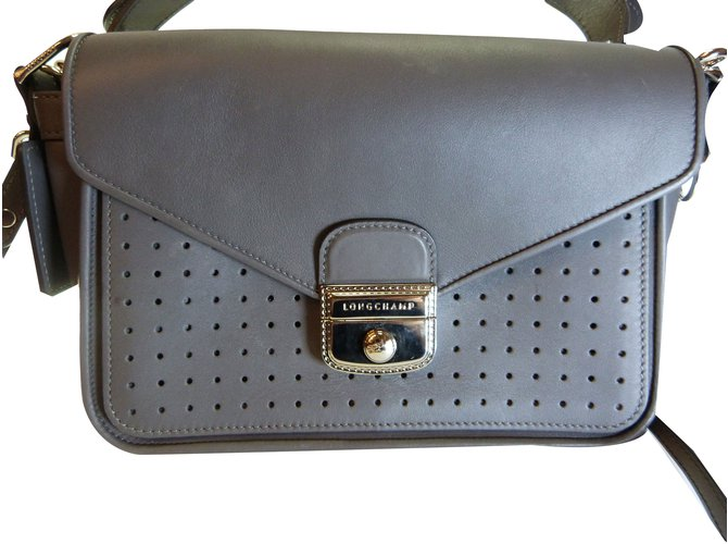 6fd433aed3bf Longchamp Handbags Handbags Leather Grey ref.75486 - Joli Closet