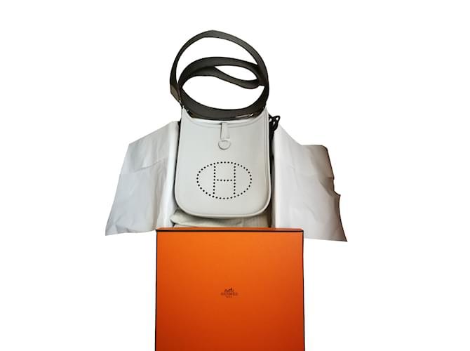 Sacs à main Hermès Evelyne tpm Cuir Gris ref.75514