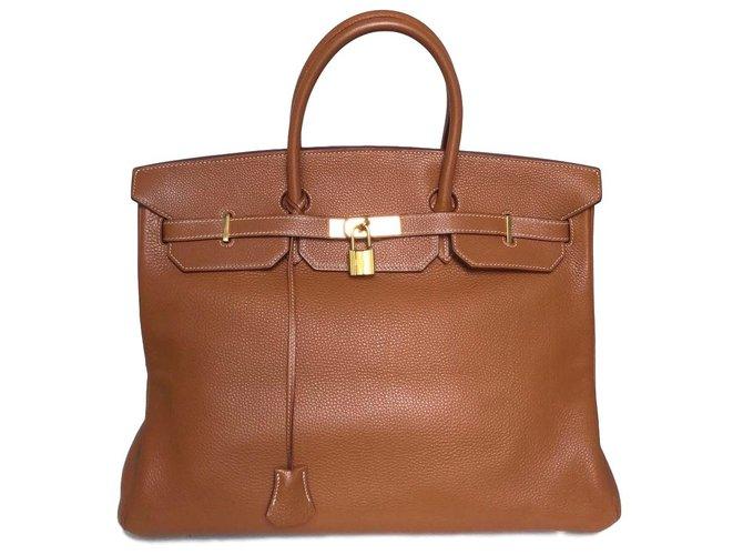 Hermès Birkin 40 Handbags Leather Golden ref.75609 - Joli Closet 27cab392c1df0
