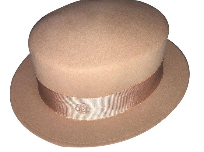 Maison Michel Hats Hats Other Beige ref.75659