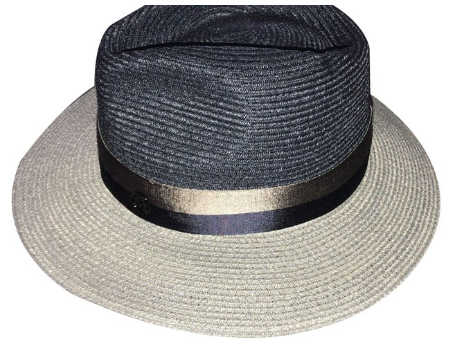 Maison Michel Hats Hats Other Navy blue ref.75661