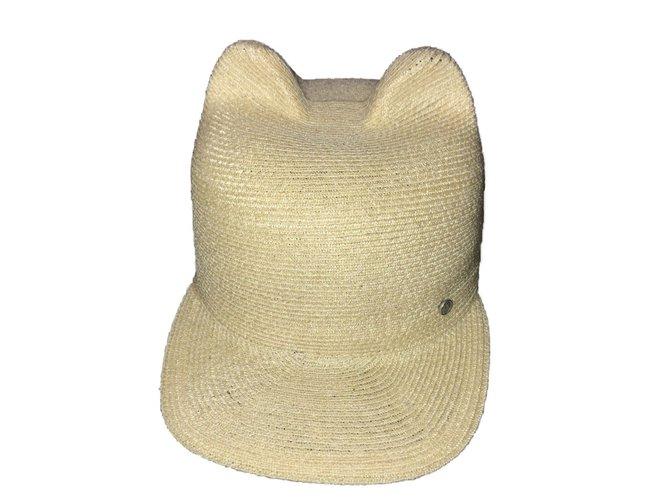Maison Michel Hats Hats Straw Beige ref.75662