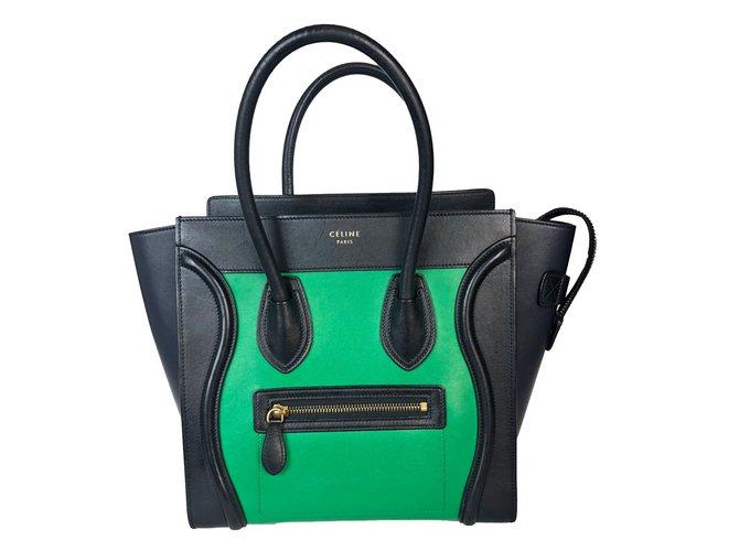 Nero Joli verde 75693 Ref Leather Handbags Armadio Céline Luggage tqRw1Tt4