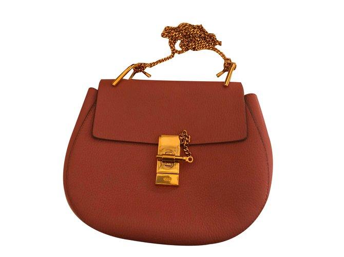 Chloé Small Drew Handbags Leather Pink ref.75709