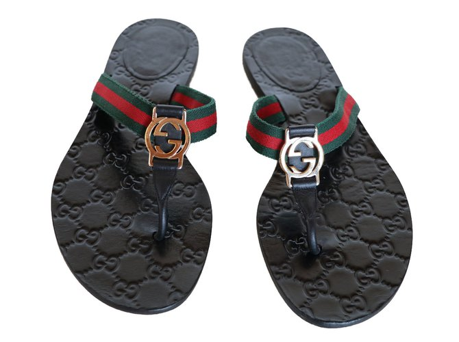 323bc69a7c39 Gucci sandals Sandals Leather Black ref.75814 - Joli Closet