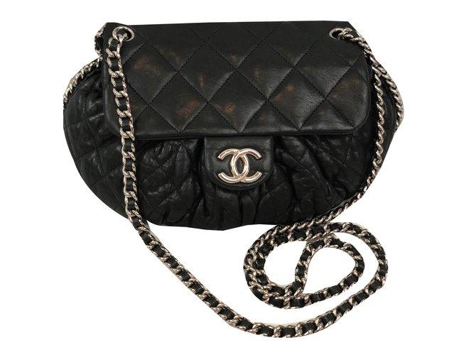 6631e10e431c Chanel Handbags Handbags Leather Black ref.75816 - Joli Closet