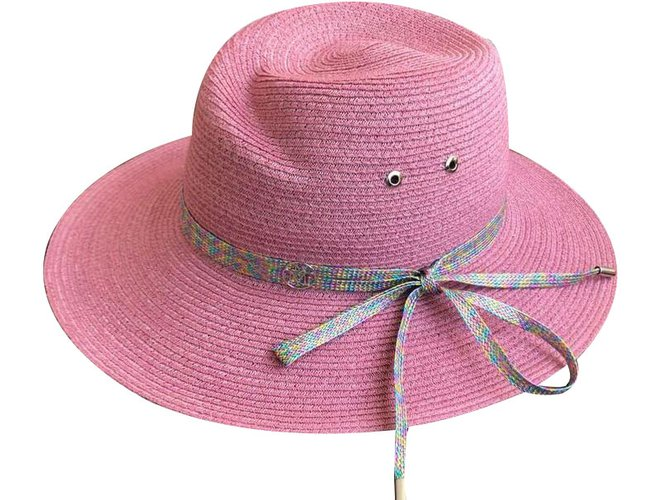 Maison Michel Hats Hats Other Pink ref.75829