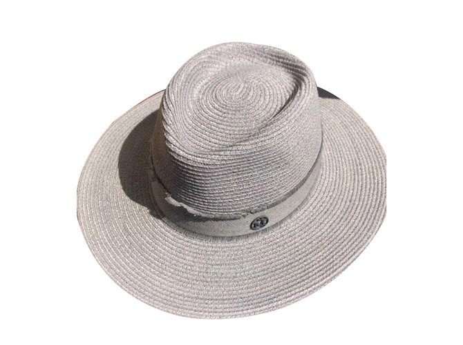 Maison Michel Hats Hats Other Grey ref.75830