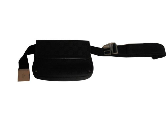 Pochettes Gucci belt bag GG Toile Noir ref.75858