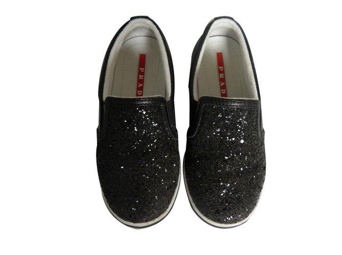 Prada sneakers Sneakers Leather Black ref.75862