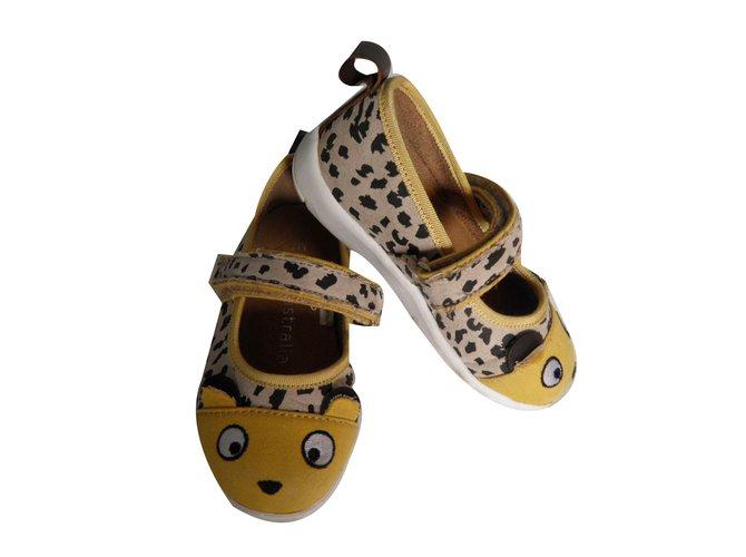Ballerines enfant EMU Australia ballerines souris Toile Imprimé léopard ref.75863