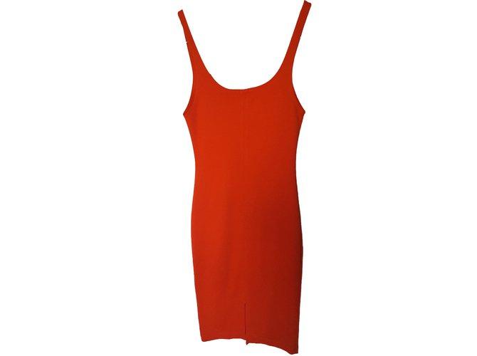 Robes Zara Robe débardeur Coton Rouge ref.