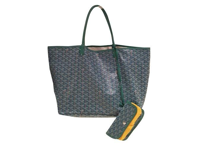 Goyard Saint Louis Handbags Cloth Green Ref 75899