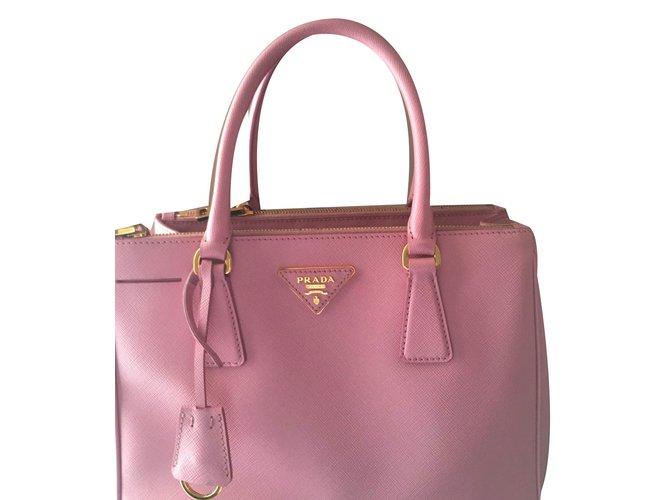Prada Handbags Leather Pink