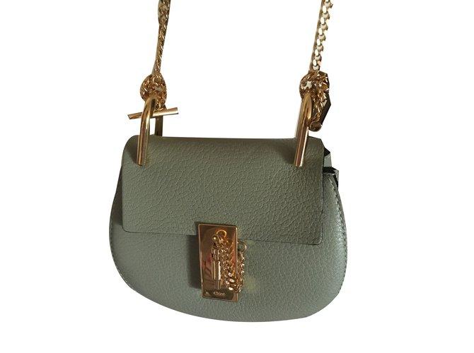 Chloé Drew nano Handbags Leather Green ref.76042