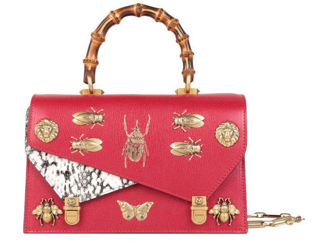 506e896b066ff5 Gucci Bag Handbags Leather Red ref.76064 - Joli Closet