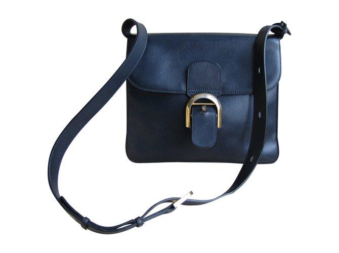 609438ffbd Delvaux Handbags Handbags Leather Navy blue ref.76098 - Joli Closet