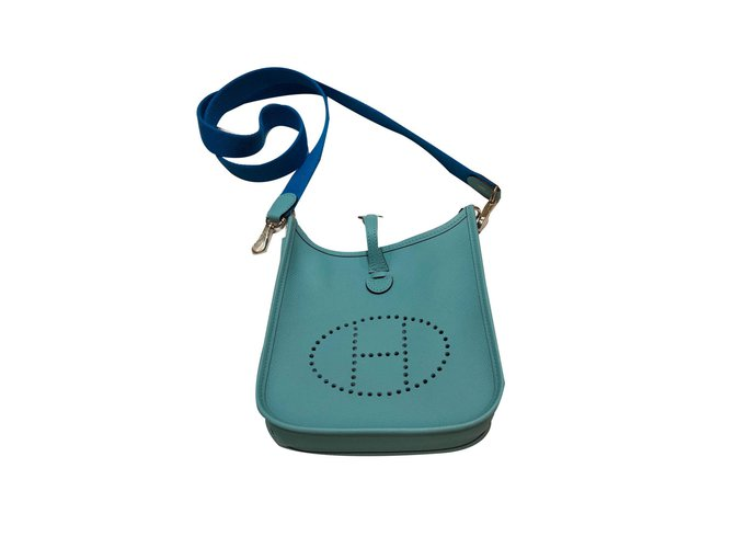 Hermès Handbags Handbags Leather Blue ref.76184