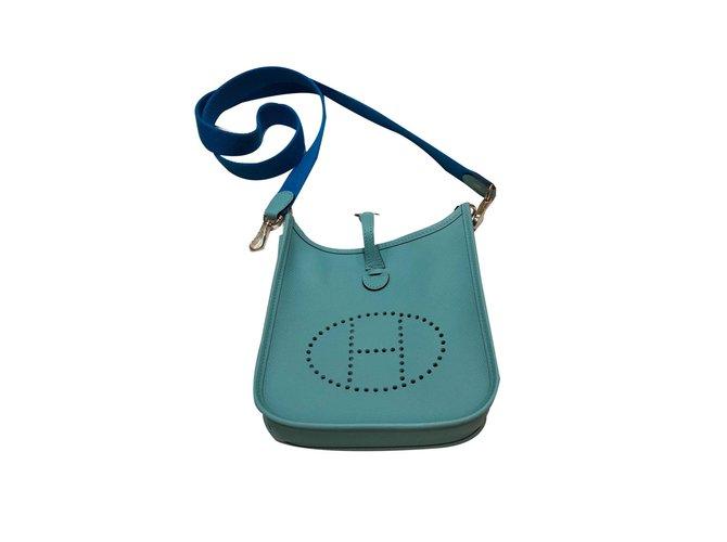Hermès Handtaschen Handtaschen Leder Blau ref.76184