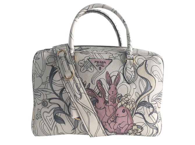 c4a9ea1aadb3 Prada Rabbit bag ressort 2018 Collection Handbags Leather Ebony ref.76187