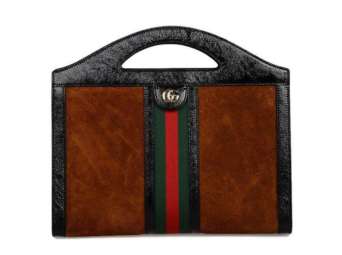 Sacs à main Gucci Ophidia Cuir Marron ref.76210