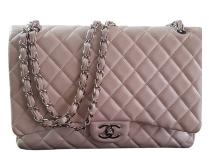 73287dd7245e Chanel Timeless maxi lined flap Handbags Leather Pink ref.76328 ...