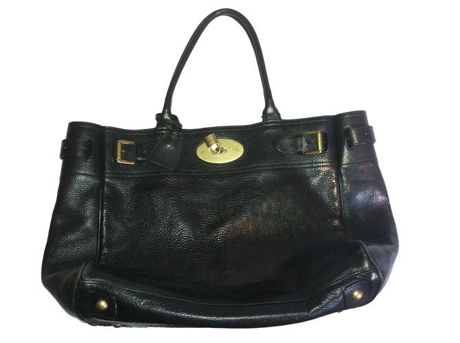 Mulberry Bayswater Handbags Leather Black ref.76358