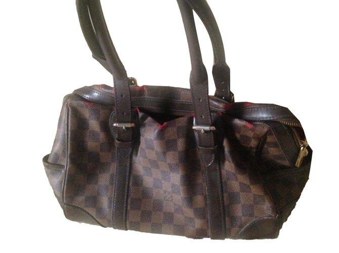 ae648d86882d Louis Vuitton Handbags Handbags Leather Dark brown ref.76456 - Joli ...