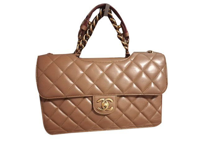 12389f4063e6 Chanel Handbags Handbags Leather Caramel ref.76519 - Joli Closet