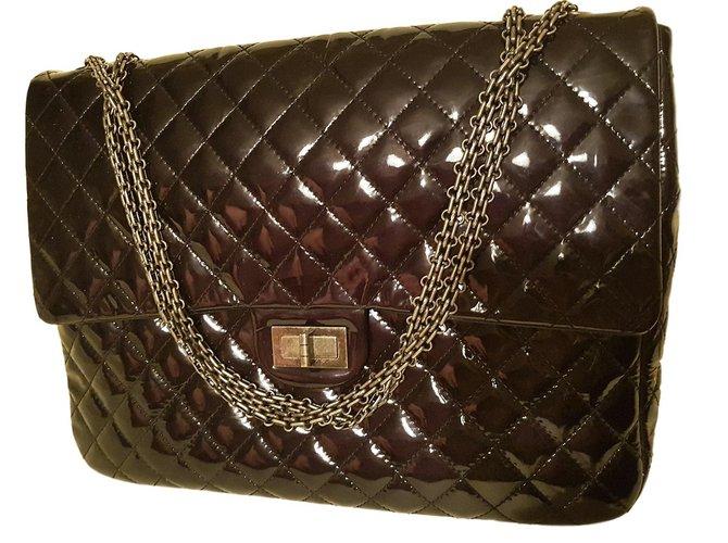 132a5432c4d9d9 Chanel 2.55 Reissue Handbags Leather Black ref.76581 - Joli Closet