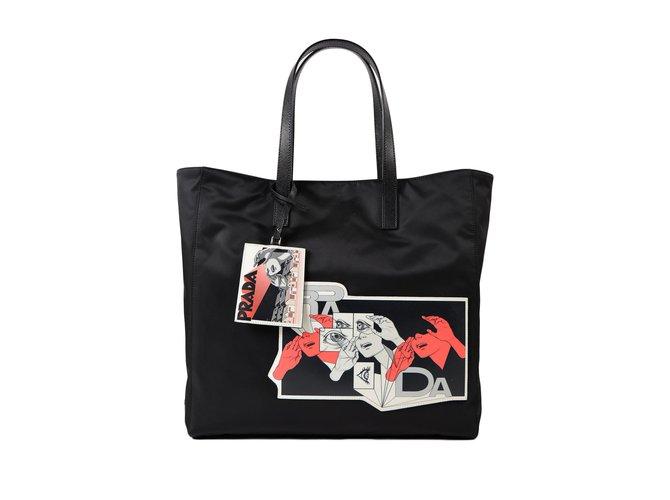 0297f87eaef4 Prada Nylon Tote Bag Handbags Nylon Black ref.76590 - Joli Closet