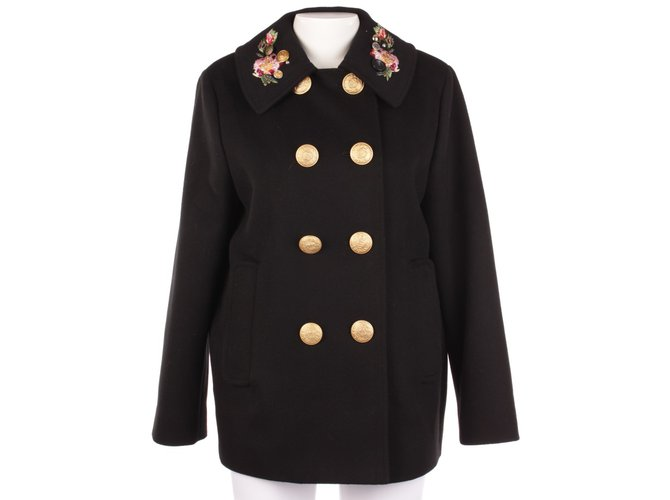 on sale 81f9b c78af Dolce   Gabbana Coat Coats, Outerwear Wool Black ref.76658
