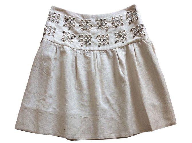Chloé Skirts Skirts Silk Beige ref.76693