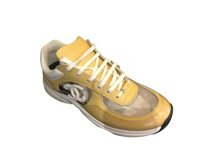 Chanel sneakers Sneakers Leather Yellow