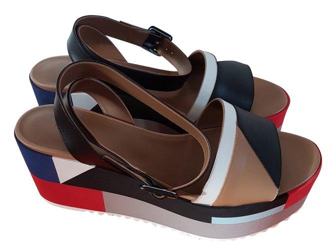 Hermès sandals Sandals Leather Multiple colors ref.76845