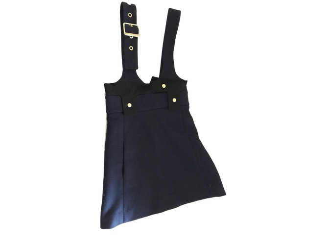 Chloé Dresses Dresses Wool Blue ref.76903